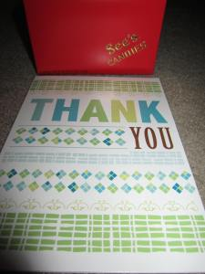 Holiday Shopping Scout thank you
