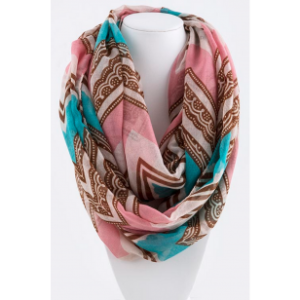 coral_chevron_polka_dot_infinity_scarf_-_ksf2630p