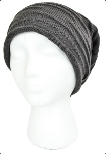textured slouch beanie